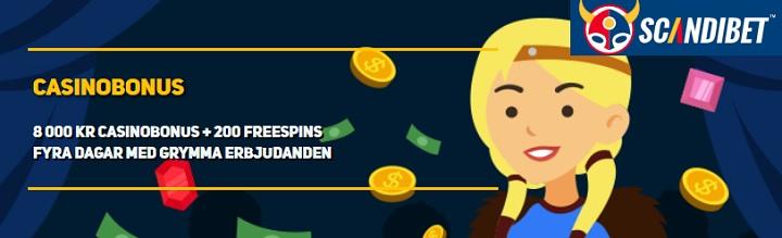ScandiBet bonusar för nya spelare
