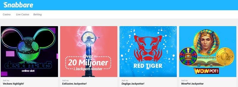 Ta chansen och vinn jackpottar hos Snabbare.com