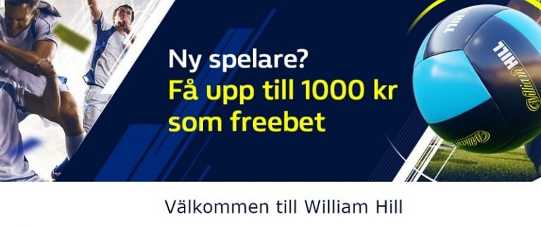 William Hill nu med skattefria vinster i Sverige